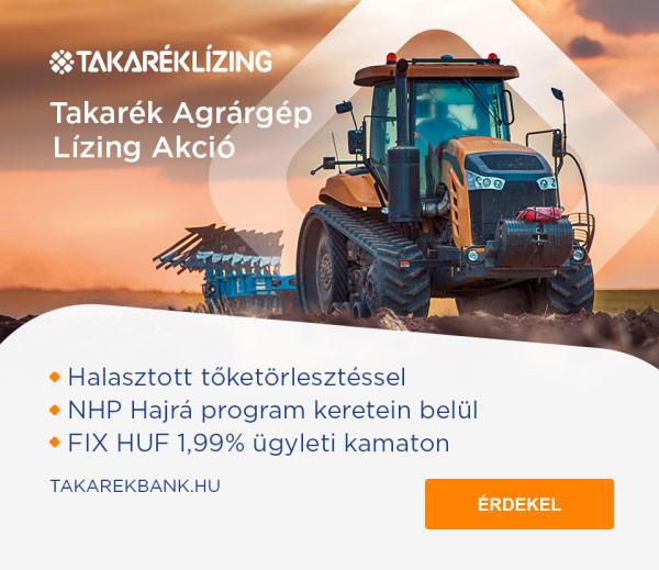 Takarék Agrárgép Lízing Akció